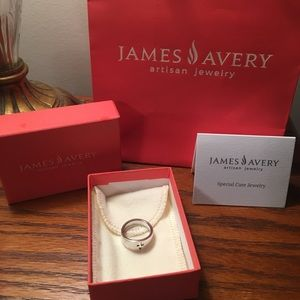Silver James Avery cross ring, sz 5